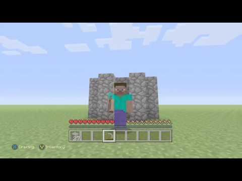 Minecraft Xbox How to make a Cobblestone Generator!