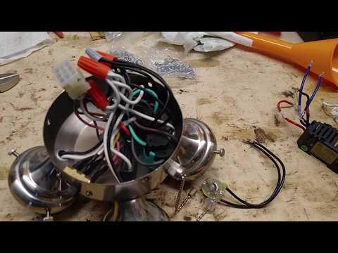 Hunter ceiling fan/light - fix flicker = remove limiter
