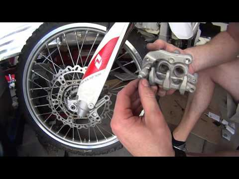 How to replace front Brake Pads on Dirt Bike YZ250F