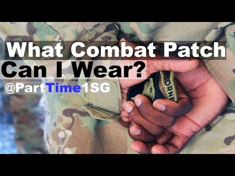 Army Combat Patch (SSI FWTS) Regulation
