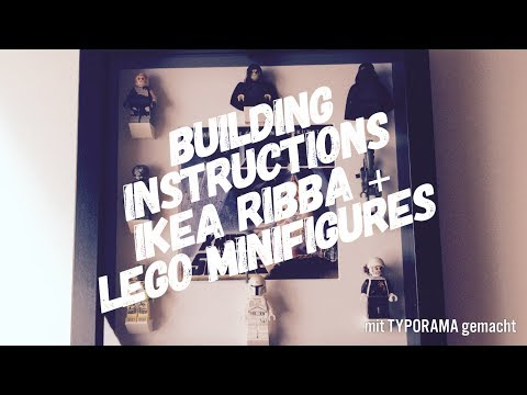 Lego Star Wars Minifigure Display / Case with a Ikea Ribba Frame - Building Tutorial - How to build