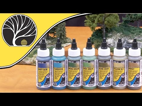 Water Tints | Tint Water When Modeling Water for Your Layouts | Woodland Scenics