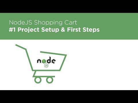 NodeJS / Express / MongoDB - Build a Shopping Cart - #1 Intro & Setup