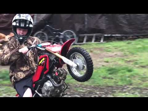 How to Remove Rear Knobby Dirt Bike Tire on Honda CRF 70 Motorcycle