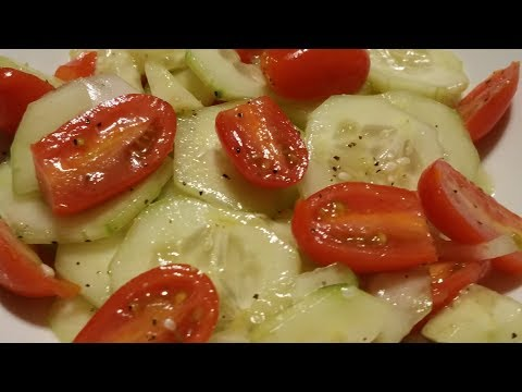Cucumber, Tomato and Onion Salad (Great for Weight Loss)