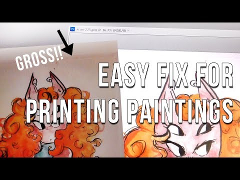 HOW TO FIX YOUR PAINTINGS FOR PRINT! ⚡🙏