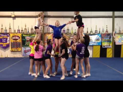 Level 4 Cheerleading Pyramid
