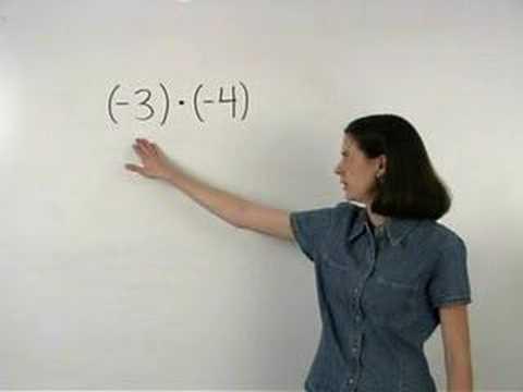 Multiplying Integers - MathHelp.com - Math Help
