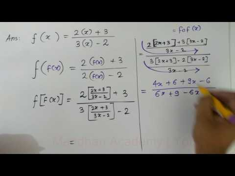 Relation and Function: Composite functions operations #2