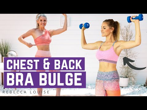 How To Lose Back Fat & Get Rid Of Bra Bulge | Rebecca Louise