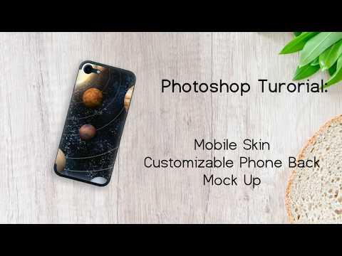 Photoshop Tutorial - Mobile Phone Mock Up   Mobile Skin