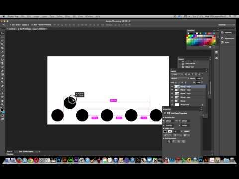 Photoshop CC 2014 -- Create polka dot design (Custom shapes)