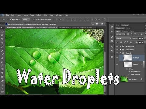 35.[Ps] Water Droplets  - Photoshop Tutorial [In Hindi]