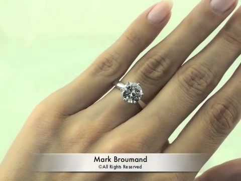 2.49ct Round Brilliant Cut Diamond Engagement Anniversary Ring - Mark Broumand