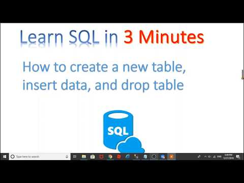 【Learn SQL in 3 minutes】--How to create table,insert data,and drop table