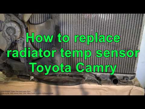 How to replace radiator temp sensor Toyota Camry Automatic transmission. Years 1991 to 2017
