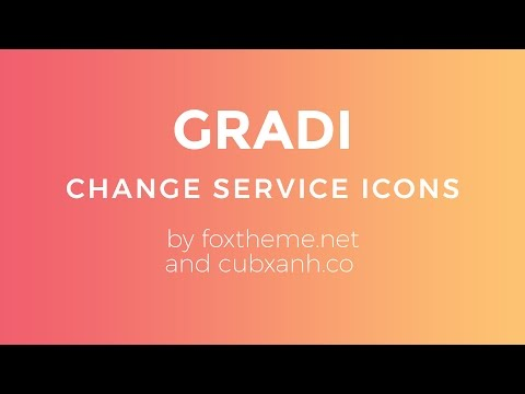 Change Service Icons - Gradi Tumblr Theme by Cubxanh.co