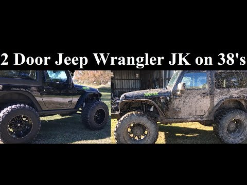 2015 Lifted Jeep Wrangler JK on 38's 4 Inch Lift