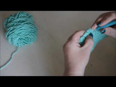 Border - DC combined with reversed DC - Crochet - Tutorial - English