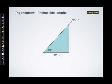 Right-triangle trigonometry: solving for side lengths