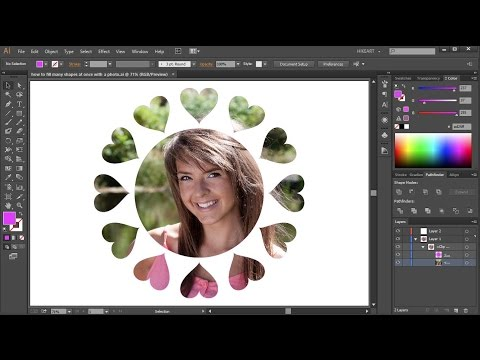 How to Fill One or Multiple Shapes with a Photo in Adobe Illustrator