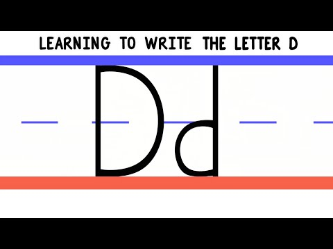 Write the Letter D - ABC Writing for Kids - Alphabet Handwriting by 123ABCtv