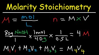 Molarity Dilution Problems Solution Stoichiometry Grams Moles Liters