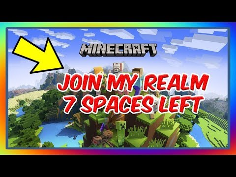 MINECRAFT OPEN SERVER JOIN MY REALM TODAY