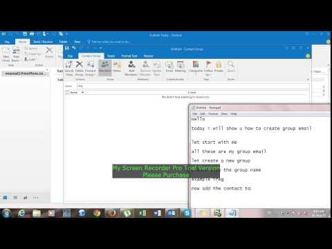 how to create group mail in outlook 2010
