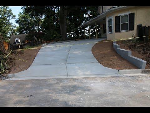 Concrete Driveway and Apron in Arlington, VA
