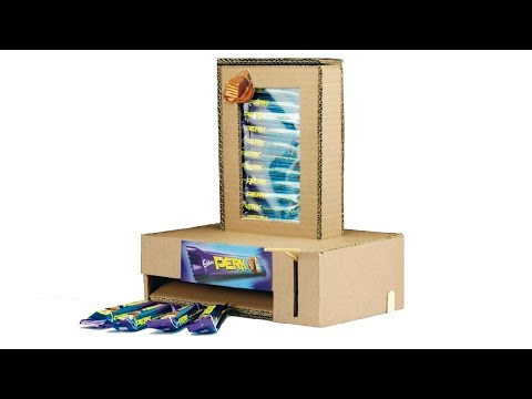 How To Make Chocolate Vending Machine Using Cardboard