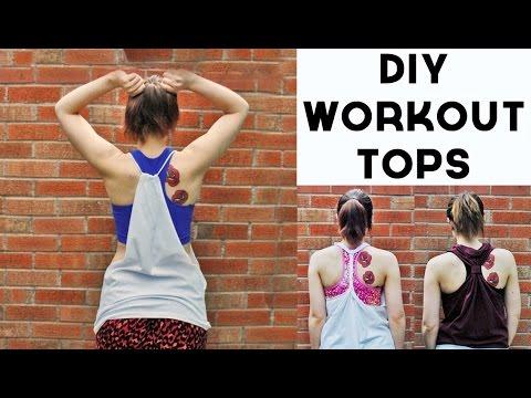 DIY Tutorial - Workout Tank Tops 3 Ways