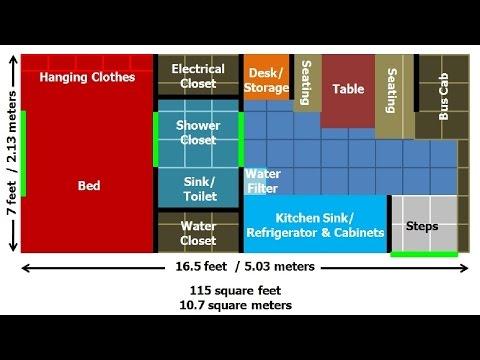 Tiny House on Wheels Floor Plans: DIY Solar Power Bus Build Out