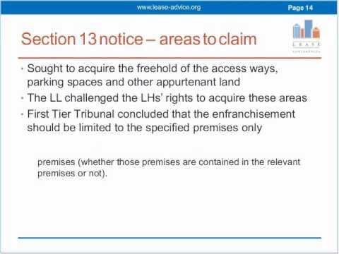 collective enfranchisement case law non valuation