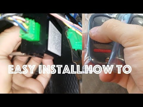 honda Element /Civic Keyless Entry Install how to