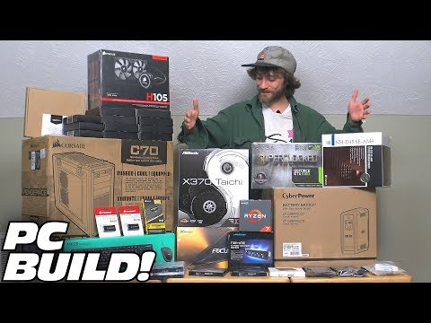 Building a FAST Computer w/ RYZEN 7! EXO's FASTEST Computer Build EVER For 4K Video Editing in 2018