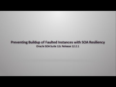 Preventing Buildup of Faulted Instances with SOA Resiliency