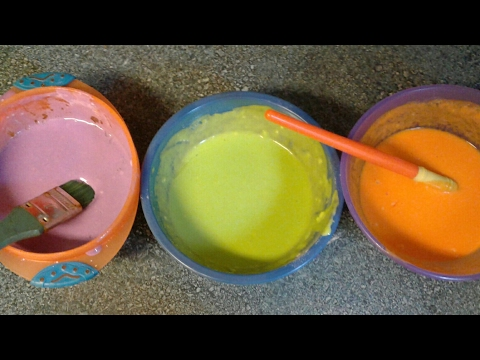 EASY HOMEMADE PAINT/SAFE FOR BABIES AND TODDLERS/ EDIBLE PAINT/4 INGREDIENT HOMEMADE PAINT