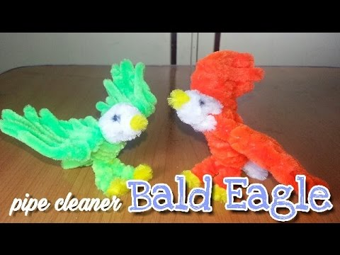 Pipe Cleaner Crafts - Bald Eagle