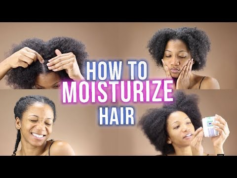 HOW TO: Moisturize Your DRY Natural Hair that lasts for Days! | Annesha Adams