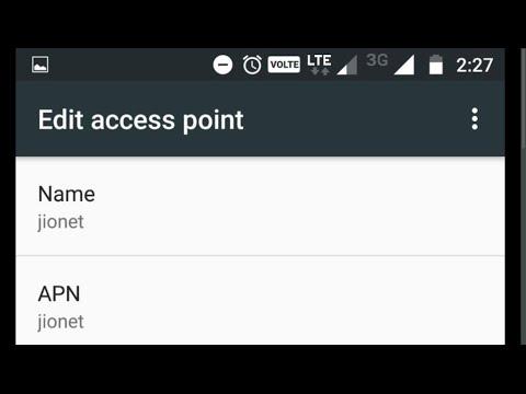 Reliance Jio 4G LTE APN Access Point Name settings