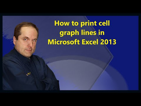How to print cell graph lines in Microsoft Excel 2013