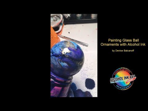 Alcohol Ink Glass Ornaments