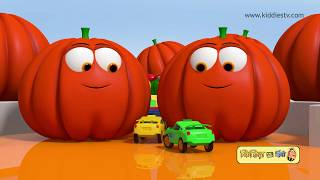 Car Race on Vegetable Race Track | Learn Vegetable Names with car race | Kiddiestv Hindi