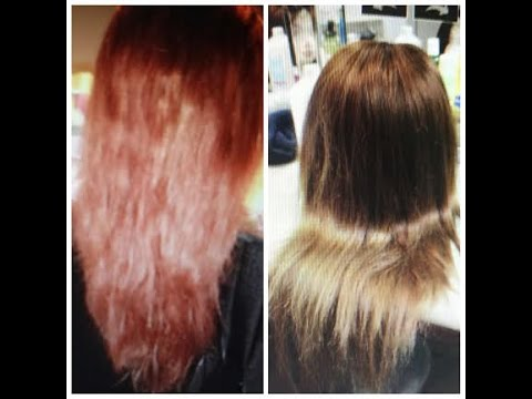From DarkBrown/Black to Ash Blonde: How to tone red brassy hair
