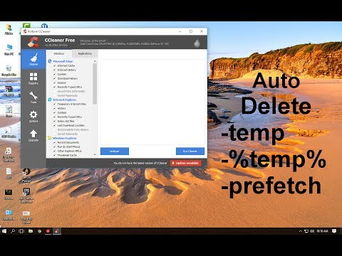 How to delete Temporary files automatically l Delete temp ,%temp%, prefetch