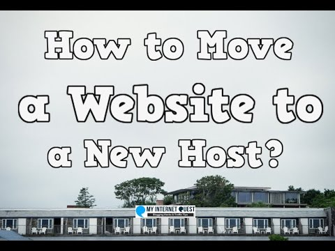 How to Move a Website to a New Host?