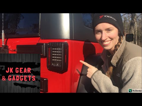 Jeep Wrangler Amazon Tailights, install and review