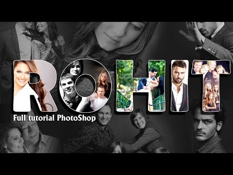 How to create Text Collage in Photoshop| Hindi |