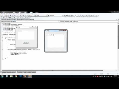 Passing Textbox Text to another form in Visual C# (CSharp)